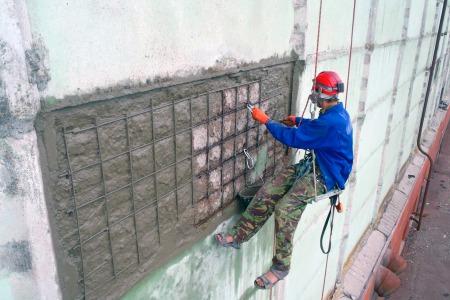 усиление бетонных стен